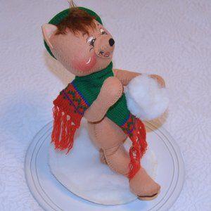 Vintage Annalee 1989 Christmas Bear